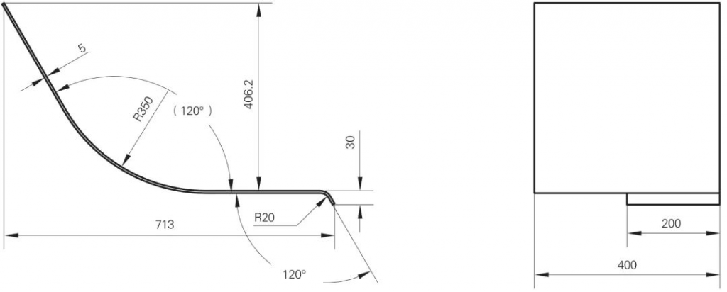 Process method for realizing large arc bending of work-piece (2)